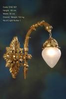 Wandleuchter, Wandlampe, Messing Barock  antik Glas AgEag0507 – Bild 1