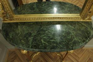 Barock Konsole Antik Stil mit Spiegel u. marble plate AwKs0181GoGn – Bild 7