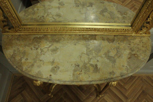 Barock Konsole Antik Stil mit Spiegel u. marble plate AwKs0181GoBg – Bild 6