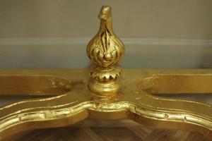 Barock Konsole Antik Stil mit Spiegel u. marble plate AwKs0181GoBg – Bild 9