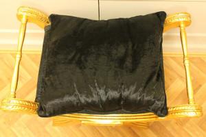 Baroque ciseaux de banquet chaise style antique Louis XV tabouret AlCh0055GoSw – Bild 4