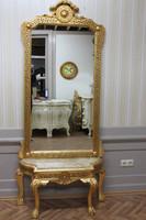 Spiegel Konsole Barock mit Marmor-Platte beige  AwKs0184Bg-tief – Bild 3