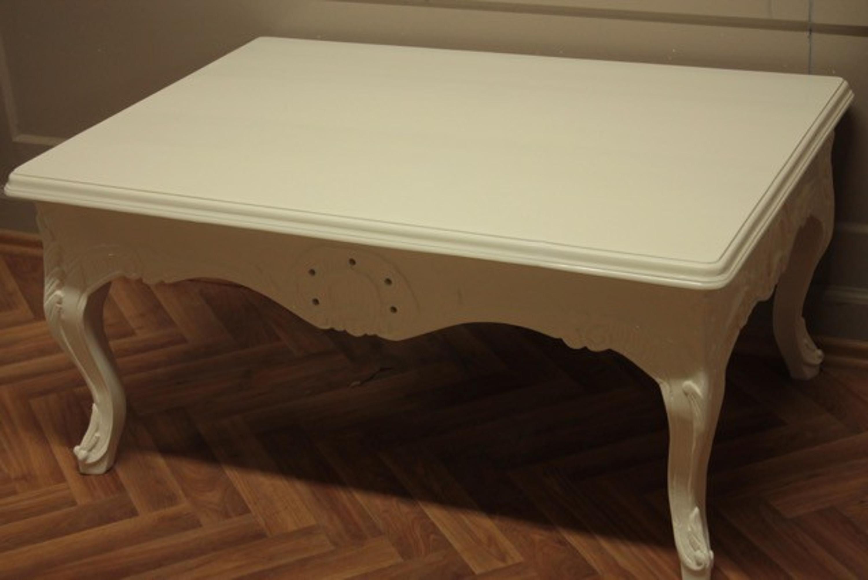 Barock Couchtisch Tisch Antik Stil weiß Rokoko AlTa0102We2
