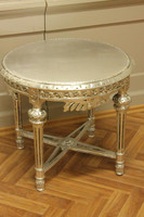 baroque table couch  round wood baroque antique style  AwTa0254SiHz – Bild 2