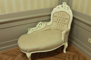 Baroque méridienne chaise style antique AlSo0316CrBgBaby – Bild 1