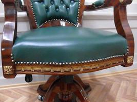 baroque armchair carved rococo chair antique style MoCh0857SkGn – Bild 2