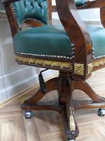 baroque armchair carved rococo chair antique style MoCh0857SkGn – Bild 4