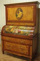 Baroque secrétaire Chest Antique Style Rococo historicisme AlSc0001B – Bild 1