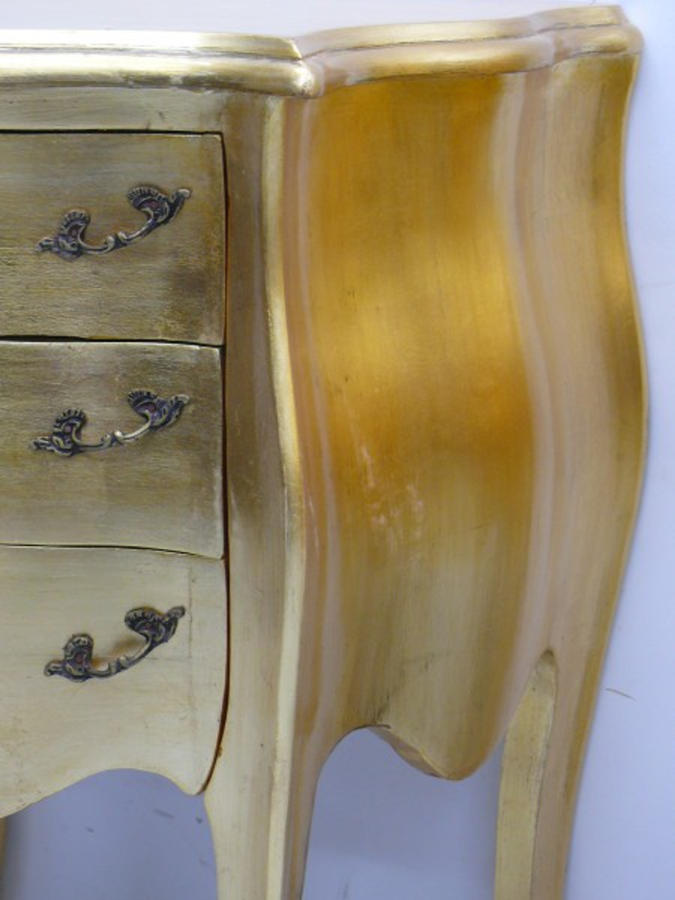 Small Chest Of Drawers Baroque Style Gilded