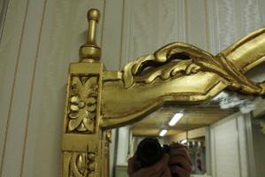 Barock Konsole Antik Stil mit Spiegel u. marble plate AwKs0181GoWe – Bild 4