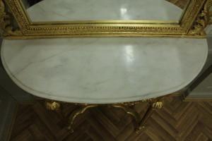 Barock Konsole Antik Stil mit Spiegel u. marble plate AwKs0181GoWe – Bild 9