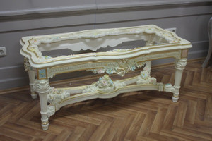baroque couch  table with glass plate antique style Vp0845/01AC – Bild 8