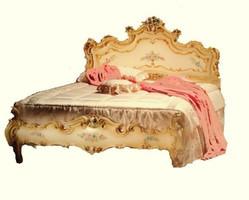 Barock Bett Bed Lit Letto Venetian Vénitien Barocco Vp7761 – Bild 1