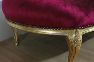 AlSo0316GoRtSamt/Velour chaise baroque longue chaise style antique – Bild 4