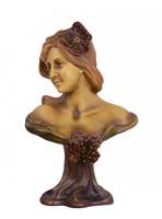 Porzellan Skulptur Figur Terrakotta Frauen Büste Jugendstil