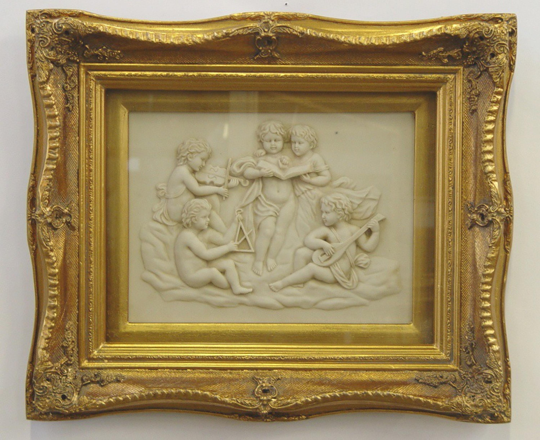 Barocker Rahmen mit Schlagvergoldung und Bild aus Resin   LouisXV ...