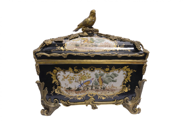 Porzellan Deko Box Kiste Truhe Mit Bronze Louisxv Online Shop