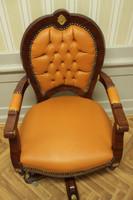 baroque armchair carved rococo chair antique style MoCh0857SkKar – Bild 4