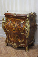 commode baroque Cabinet Louis XV style antique MoKm0025IntBg – Bild 1