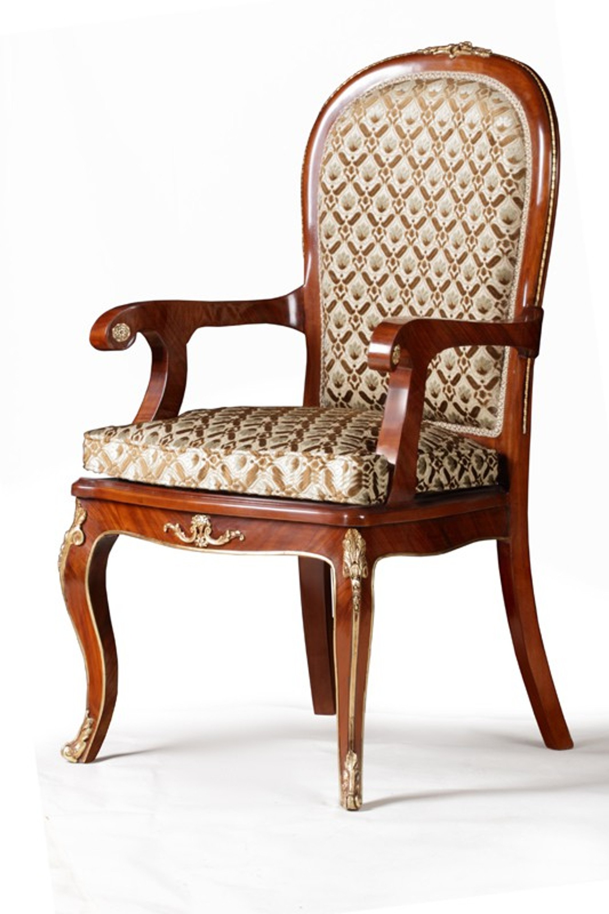 Baroque Armchair Carved Rococo Chair Antique Style MoCh1685