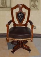 baroque bureau swivel chair  louis pre victorian antique style MoCh0897 – Bild 1