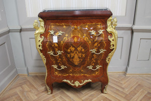 Commode baroque Cabinet Louis XV AaKm0127 de style antique – Bild 2