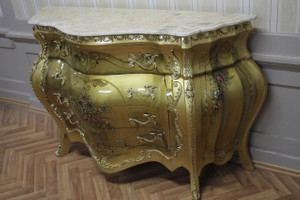 Commode baroque Cabinet Louis XV style antique MkKm0118 – Bild 1