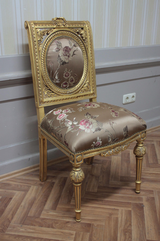 silla de comedor antiguos, soplar MkCh0083 recubrimiento dorado ...