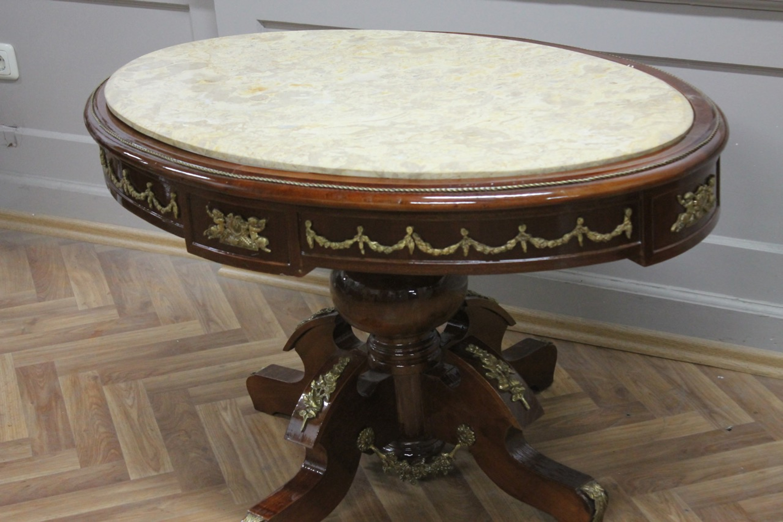 Table Baroque Rococo Louis Mkta0123bg De Marbre Xv Louisxv