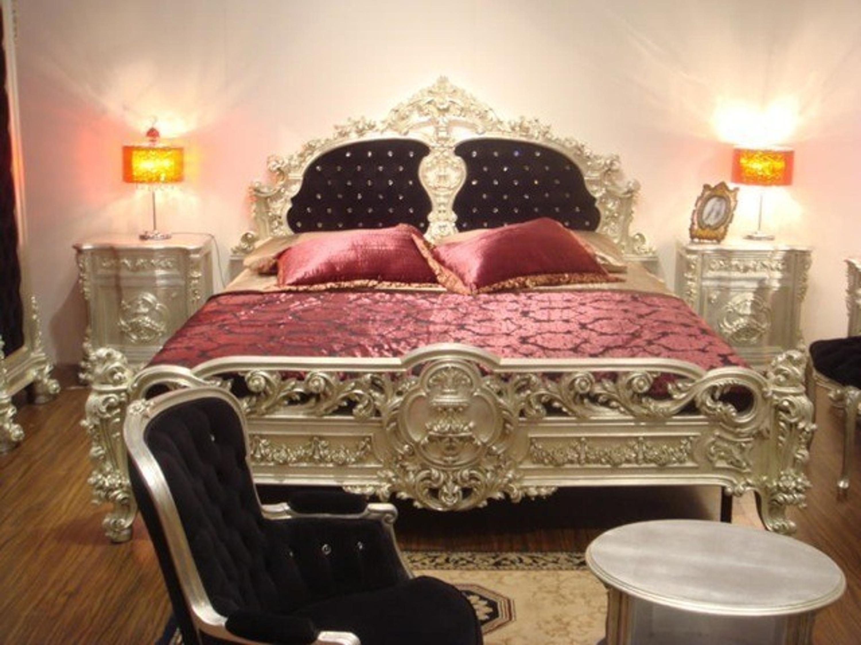 Barock Bett Doppel Bett 200x200 Schlafzimmer Antik Stil Vp7701K ...