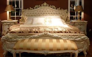 Barock Bett  Doppelbett  168x200 Schlafzimmer Antik Stil   Vp7712 – Bild 1
