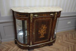 Barock Anrichte Antik Stil Kommode Marmor Barock Antik Stil LouisXV MkMo0050Bg