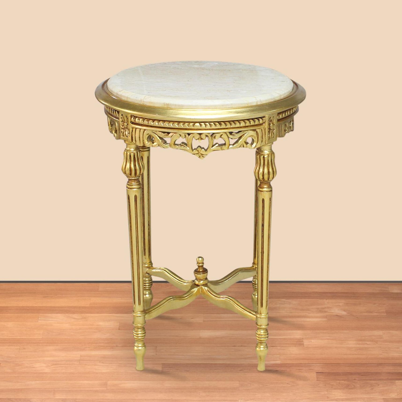 Beistelltisch tisch rund antik stil barock alta0205gobg for Esstisch rund marmorplatte