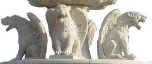 Barock - Brunnen Marmor Rokoko beige Antik Stil JrMa1000 – Bild 4