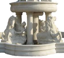 Barock - Brunnen Marmor Rokoko beige Antik Stil JrMa1000 – Bild 7