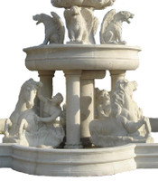 Barock - Brunnen Marmor Rokoko beige Antik Stil JrMa1000 – Bild 8