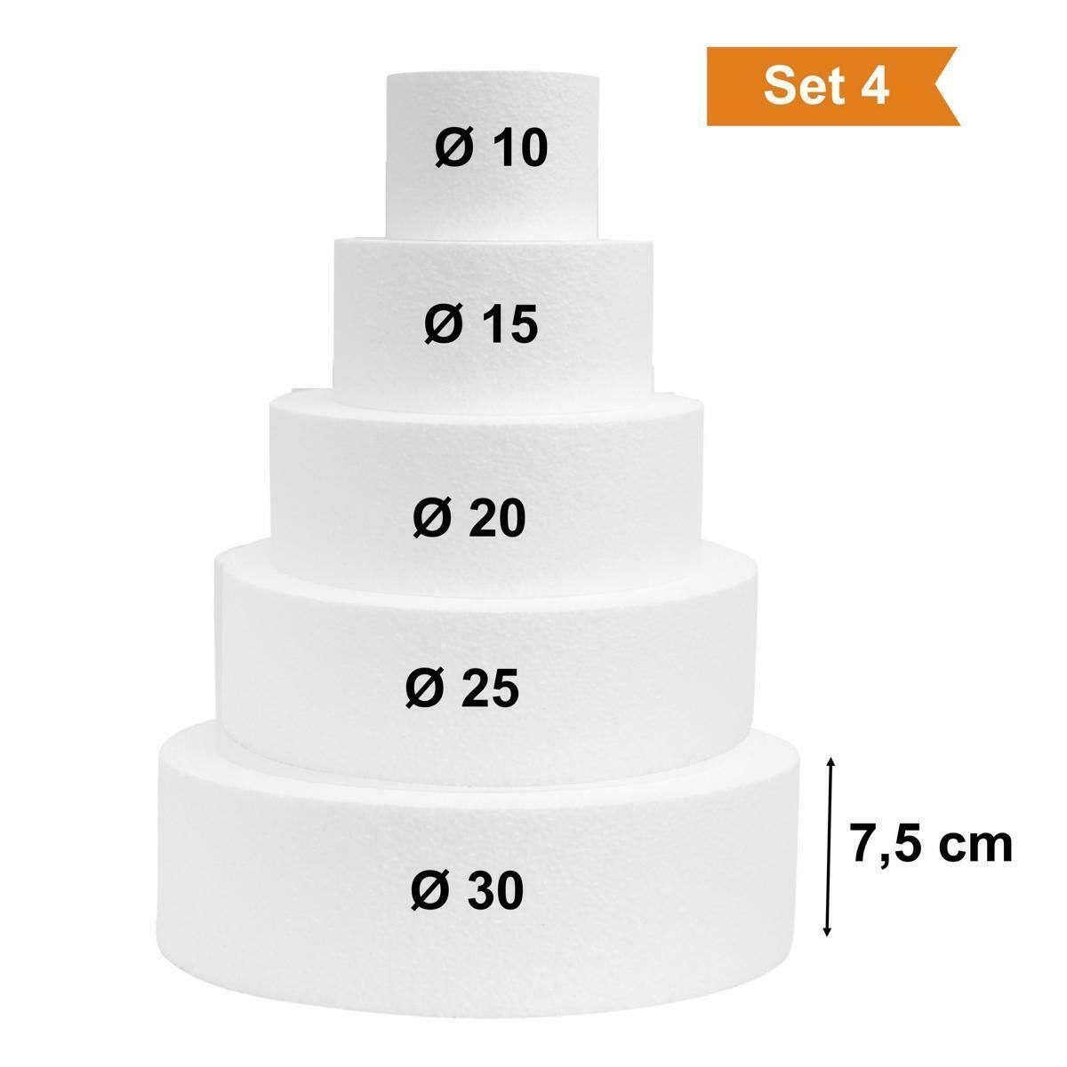 Scheibe Ø 40 Höhe 10 cm Torte Rohling Dummy Hochzeit Cake Pop Grundlage Styropor