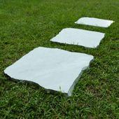 WOHNFREUDEN 3er Pack Sandstein ca. 50 cm Trittstein Gehwegplatte Weg Platten