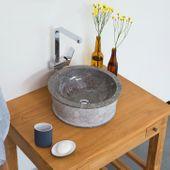 Marmor - Waschbecken JAAKO 40 cm grau Bild 1