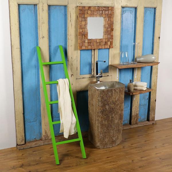 Albesia Holz Handtuchleiter grün 160 cm