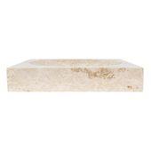 WOHNFREUDEN Marmor Naturstein-Waschbecken TUMBA 45 cm creme Bad Gäste WC