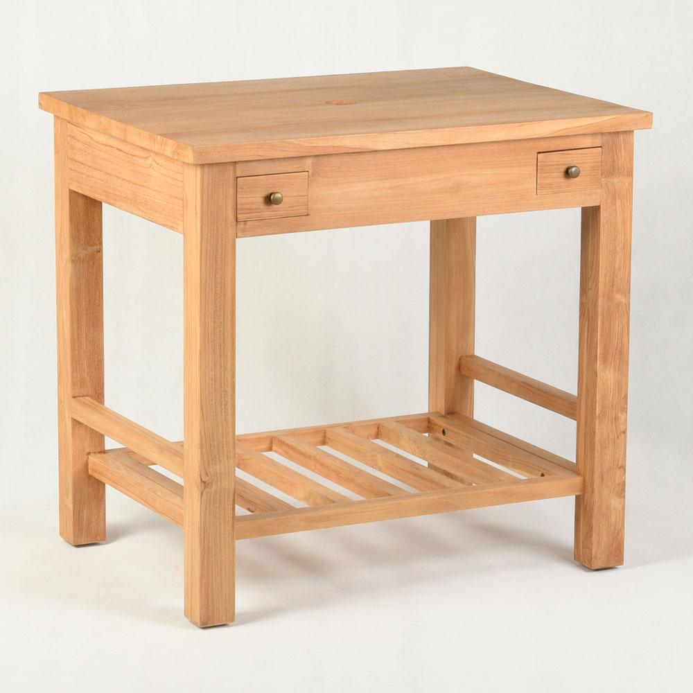 WOHNFREUDEN Waschtisch Teak-Holz Juliane 80x60x75 cm lasiert natur
