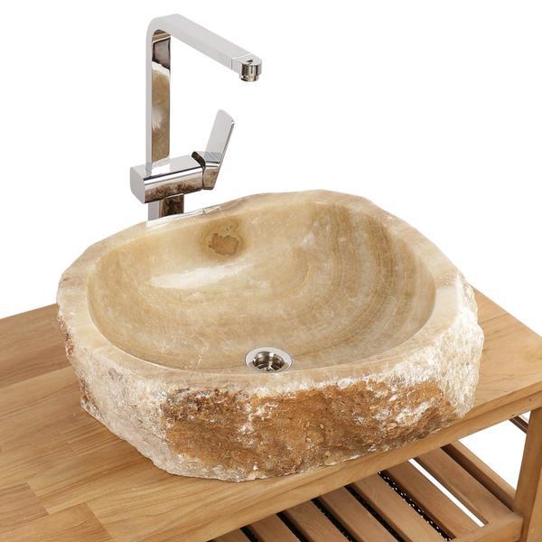 Onyx Waschbecken Gäste WC Bad 56x60x15 cm