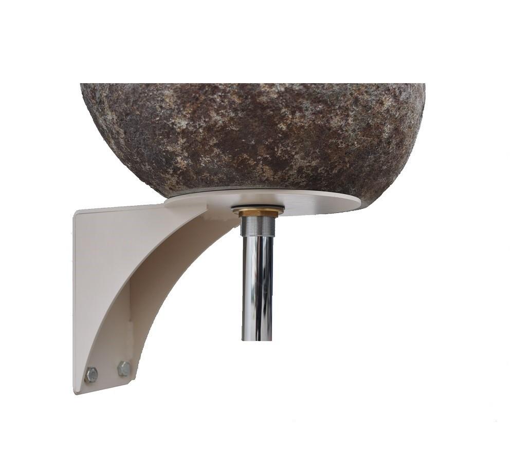 flussstein waschbecken halterung ohne armaturenloch bei. Black Bedroom Furniture Sets. Home Design Ideas