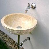 WOHNFREUDEN Waschbeckenhalterung für Flussstein Waschbecken Waschtisch Halterung Wandmontage