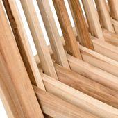 WOHNFREUDEN Teak Holz Gartenstuhl geschliffen klappbar massiv 40x36x90 cm