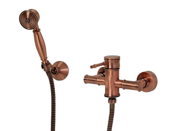 Retro Duscharmatur Einhebel rot bronze