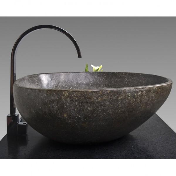 naturstein waschbecken 40 cm poliert bei wohnfreuden kaufen. Black Bedroom Furniture Sets. Home Design Ideas