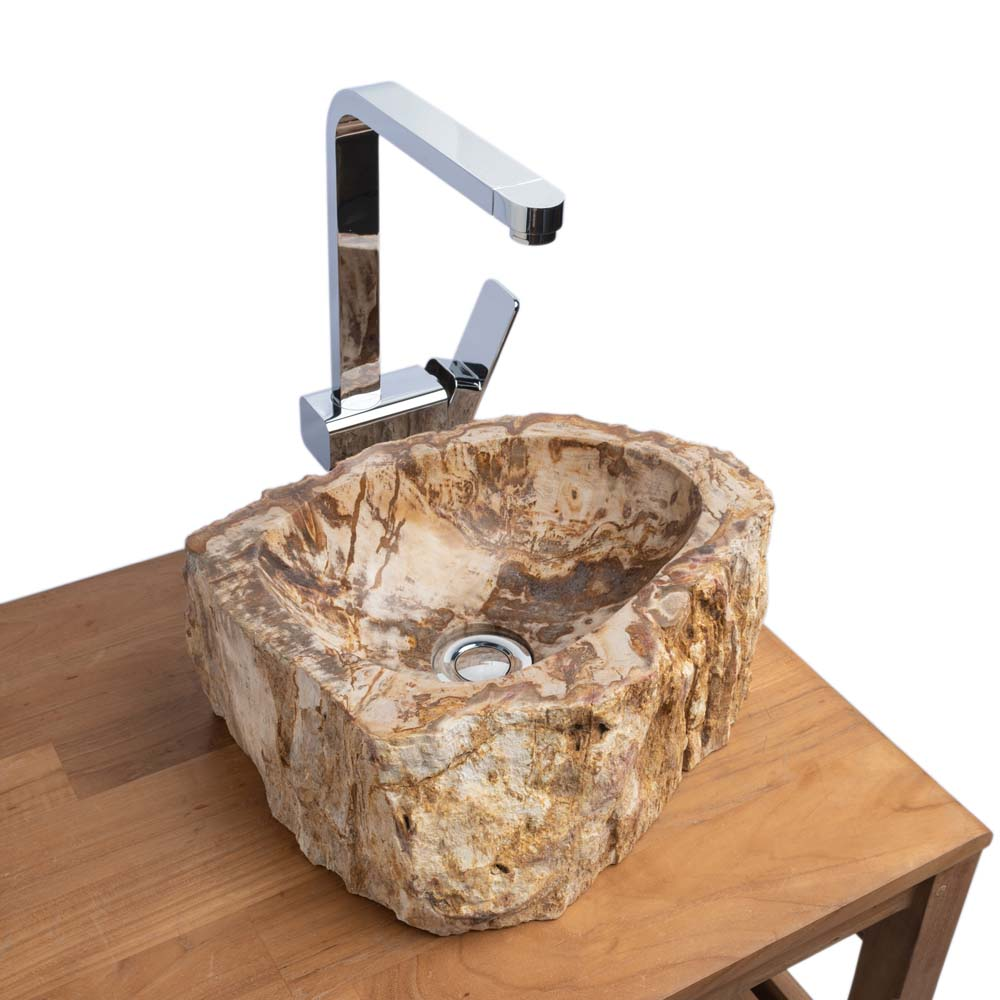 Waschbecken fossiles Holz 35x29x15 cm