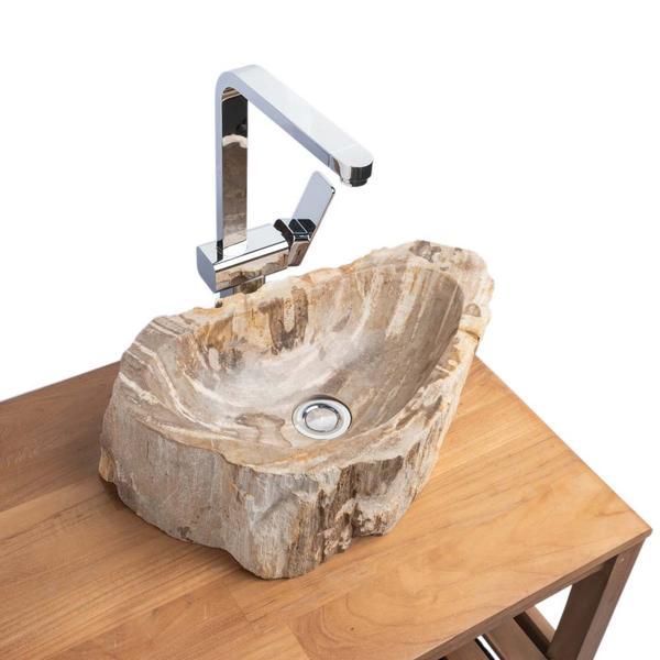 Waschbecken fossiles Holz 45x28x15 cm